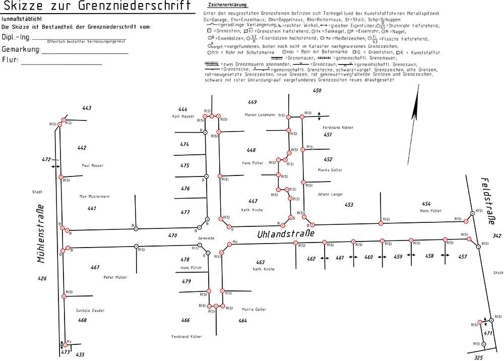 Neue Skizze zur Grenzniederschrift